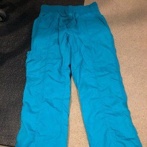 Peaches Small Scrubs Pants Nurse Vet Tech Blue S